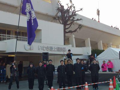 8:40スタート地点磐城高校応援団.jpg