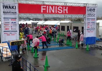 11:03 フィニッシュ地点 フルマラソンランナーのみなさんもうすぐゴール!! 準備万端で待ってます!